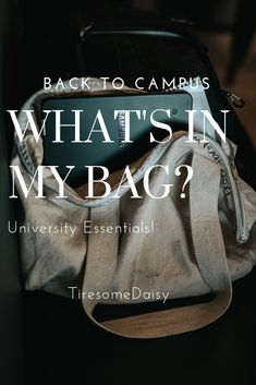 My campus essentials University Essentials, My Campus, What In My Bag, My Bags, Chanel, Tote Bag, Totes, Tote Bags