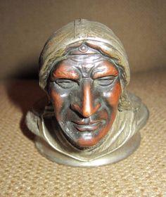 1928-Pontiac-Indian-Head-Hood-Ornament-Radiator Mascot $1000.00