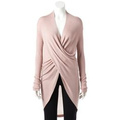 Women's+Jennifer+Lopez+Twist-Front+Sweater