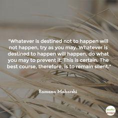 worth considering! Ramana Maharshi Quote 4