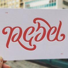 """""""Rebel"""" ambigram by @nikitaprokhorov"""