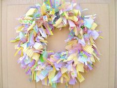 EASTER WREATHS   Easter Rag wreath   For the Home