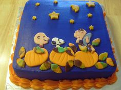 Charlie Brown Pumpkin Cake