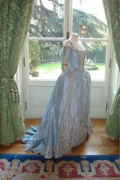 Blue Brocade Dressing Gown worn in Marie Antoinette