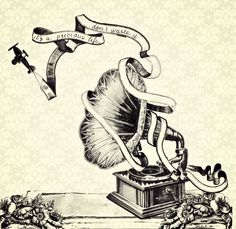 Gramophone and toy plane