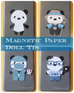 Magnetic Paper Dolls #cricut
