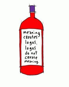 Un logotipo por sí solo no transmite el significado.