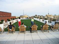 Rooftop amenities are the new wave in city living, says Alexandria landscape architect Trini Rodriguez. The latest: projection walls for movies, and urban agriculture (think tomatoes and rosemary). Bocce Ball Court, Urban Agriculture, Royal Park, Outdoor Spaces, Outdoor Decor, The New Wave, Backyard For Kids, City Living, The Washington Post