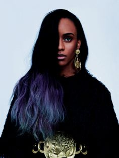 Brandon maxwell styles Angel Haze for May 2014 issue of ELLE magazine