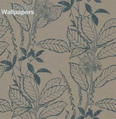 Cordelia is a wallpaper of authentic elegance.  Featuring a lightly embossed finish, this design is a tribute to beauty and art with its skillfully portrayed flowers and the bold outlines of its long leaves.