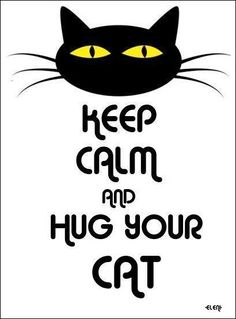 KEEP CALM AND HUG YOUR CAT - created by eleni