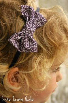 Diadema Lazo Malva de Inesloveskids.com Malva, Band, Accessories, Fashion, Head Bands, Hair Bows, Ornaments, Moda, Sash