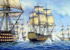 HMS Victory at Trafalgar - Richard C. Moore