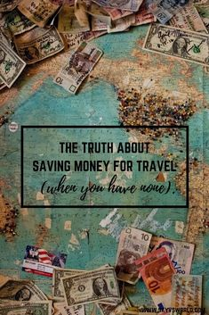 Saving money for travel isn't always as easy as giving up lattes and cocktails // travel // budget travel // saving for travel