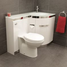 Vigo Right Hand Corner Combination Unit with White Basin