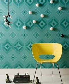 Wandgestaltung - Cool interior design ideas, which include the redesign with Wall Murals Diy Design, Wall Design, House Design, Design Ideas, Exterior House Colors, Interior Exterior, Types Of Furniture, New Furniture, Long Chair