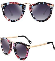 ATTCL® Fashion polarisées Lunettes de soleil femmes 11189 Floral - Shop 880bcc68d445