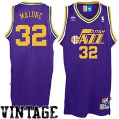 Mens Utah Jazz Karl Malone adidas Purple Hardwood Classics Soul Swingman  Throwback Jersey New York Basketball 45bf353af