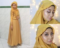 Engagement makeup+hijab tutorial and Outfit is up! | http://caaantik.com/132298/belajar-makeup-tutorial-makeup-lamaran-hijab-dan-outfit.html