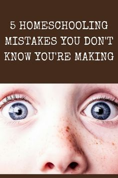 Mistake # 4 is not making the paradigm shift to homeschooling, and just creating…
