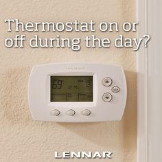 Save some energy and money by turning your thermostat off during these warm days!