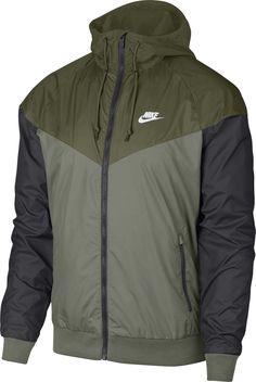 Nike Men's Windrunner Colorblocked Jacket - Green S Nike Windbreaker Mens, Nike Windrunner Jacket, Nike Clothes Mens, Swag Outfits Men, Nike Outfits For Men, Mens Sweatshirts, Hoodies, Nike Jacket, Jacket Men
