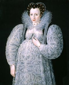 1595 Portrait of an Unknown Lady by Marcus Gheeraerts the Younger (Tate Gallery) Previous Next List Elizabethan maternity wear is shown in this 1595 portrait. Elizabeth I, Historical Costume, Historical Clothing, Historical Dress, Maternity Fashion, Maternity Dresses, Maternity Clothing, Maternity Wear, Maternity Style