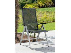 Stern Gartensessel/Klappsessel Lazy Aluminium graphit Textil schwarz Aluminiumarmlehnen kaufen im borono Online Shop