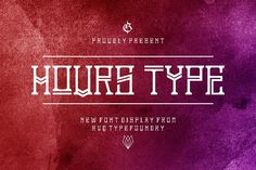 Hours type from FontBundles.net