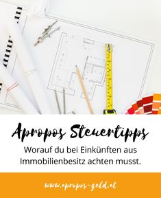 #aproposgeld #apropossteuertipps #steuern #immobilien Boarding Pass, Blog, Travel, Investing, Helpful Tips, Real Estates, Money, Knowledge, Voyage