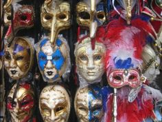 The beautiful handcrafted masks of Venice. You must be quick to take the picture, most stalls do not allow photographs!!