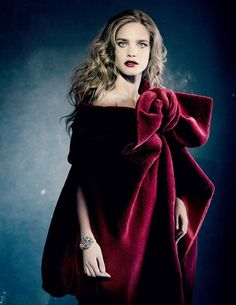 Photo Natalia Vodianova by Paolo Roversi for Vogue Russia December 2014