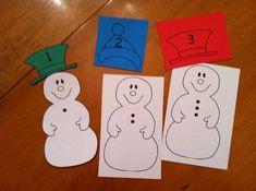 Winter Snowman Math Preschool Lesson Plan