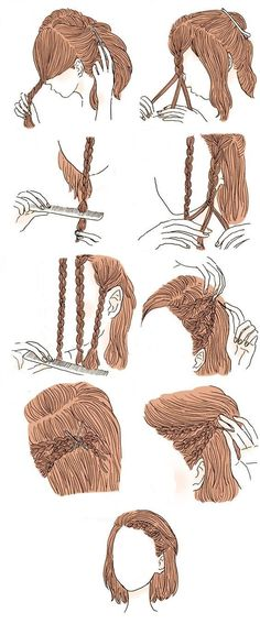 Peinados Just some hair tutorials, move along. spring + nature bridal portraits Hair Tutorial: My New Cut – Spiked Style! a little bow hair tutorial Hairstyles For Receding Hairline, 3a Hair, Uk Hairstyles, Cool Easy Hairstyles, Ponytail Hairstyles, Drawing Hairstyles, Instagram Hairstyles, Easy Hairstyles For School, Everyday Hairstyles