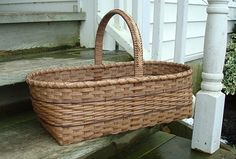 Twill Banded Market Basket by Southwestern Ontario Basketry Guild