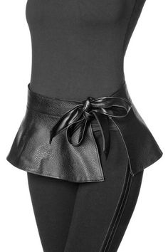 Soft synthetic leather belt with attached valance