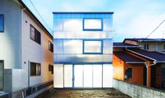 The House in Tousuienn is an open plan dwelling wrapped in translucent polycarbonate that allows natural light to fill every corner. It was built in a quiet residential area of Hiroshima, Japan and accommodates a family with three children. Designed by Suppose Design Office, this one-of-a-kind urban shelter has a magical glowing affect best appreciated when the sun finally sets.