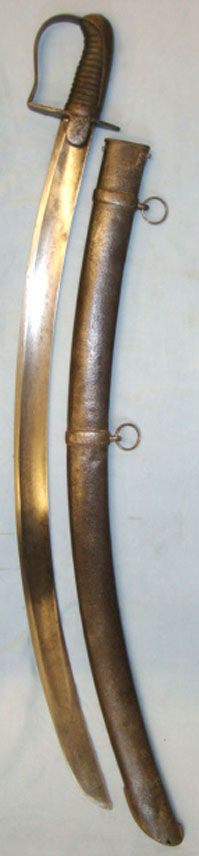 British 1796 Light Cavalry & Flank Infantry Sabre & Scabbard - now in my collection. In memorium of Witold Jakubczyk.