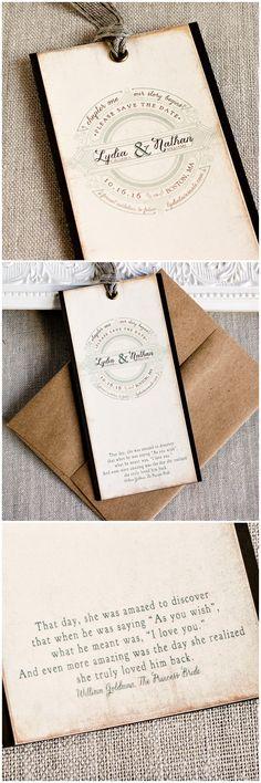 Story Book Save the Date Bookmark | Sunshine and Ravioli