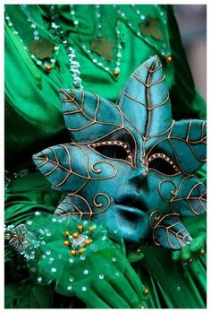 Sage Venetian mask
