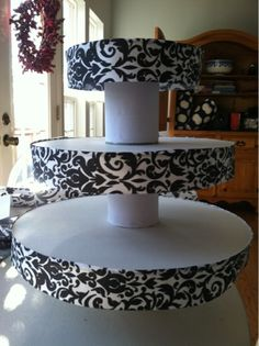 Tiered cupcake stand & DIY Cupcake stand: plywood and PVC pipe! | Wedding :) by Chelsey ...