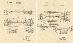 Vintage Skateboard Blueprint