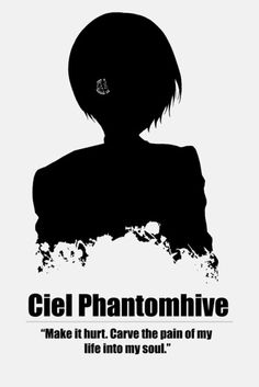 I feel so sorry for Ciel. But on the other hand, I think heartbreak makes you stronger and that his hostory has shaped him into a really strong and intelligent person.