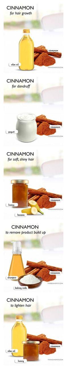Cinnamon for hair growth.