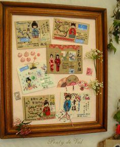 Point de croix Plomelin monde courrier Japon