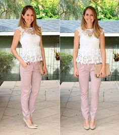 PANTS    HSN continues to make me crave spring with their new arrivals! Today I'm  reviewing three items: pale pink trousers from the G by Giuliana line, a  lavender dress by IMAN, and a Vince Camuto mint and python purse. All of  these items are part of HSN's Spring Fashion Collection, The Fashion Edit!   First up are these pale pink trousers. I've been loving this style of pant  lately. The elastic waistband in the back makes them so incredibly  comfortable, and the shape is really ...