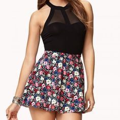 Floral print skater skirt.  The perfect look for a night out or lunch with the girls.  It's a steal at only $9.80