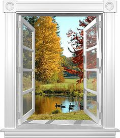 Fall Geese window mural Window Mural