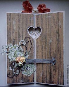 """Открытка """"Калитка в сад"""" - Открытка ручной работы,открытка на день рождения"""