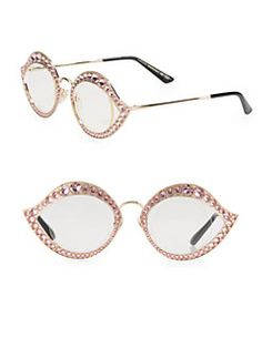 40acb7405423 Gucci - Crystal-Studded Cat Eye Glasses Cat Eye Glasses